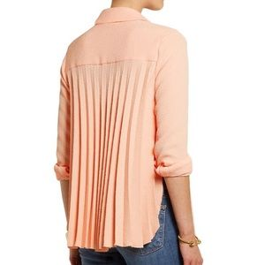 [see by chloé] peach pleat back top